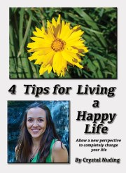 4 Tips for Living a Happy Life eBook free with Newsletter signup