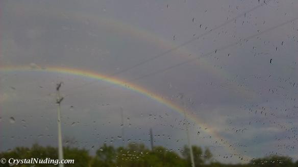 OMG. It's a FULL Double Rainbow!!
